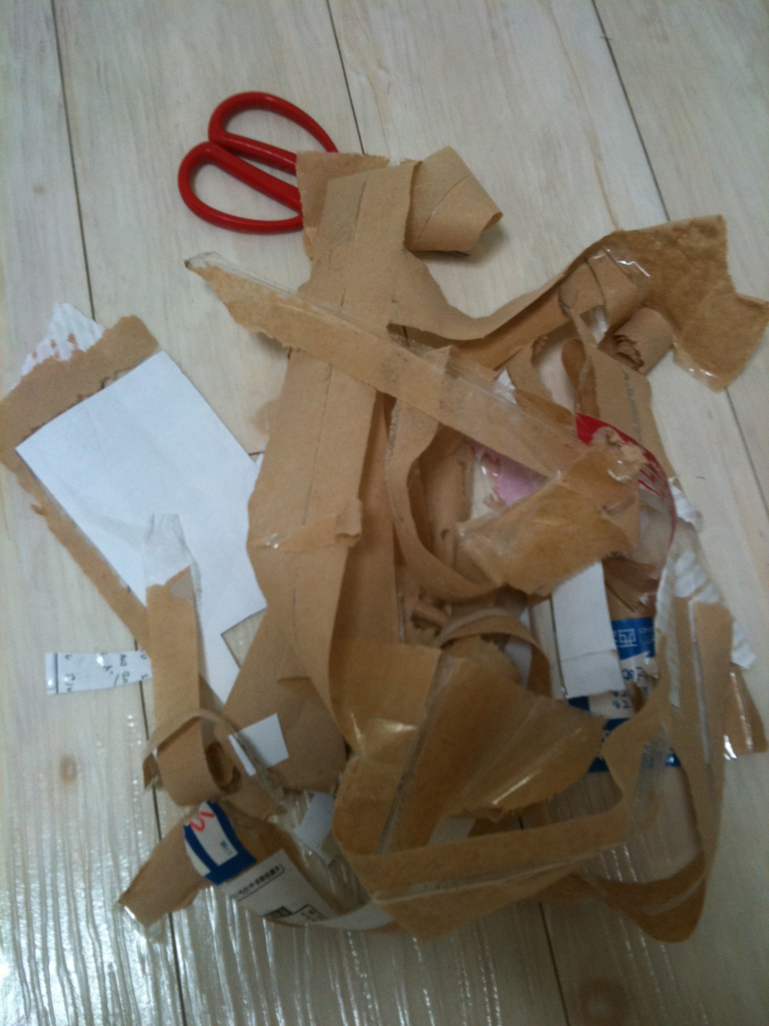 Restos de cinta de embalar