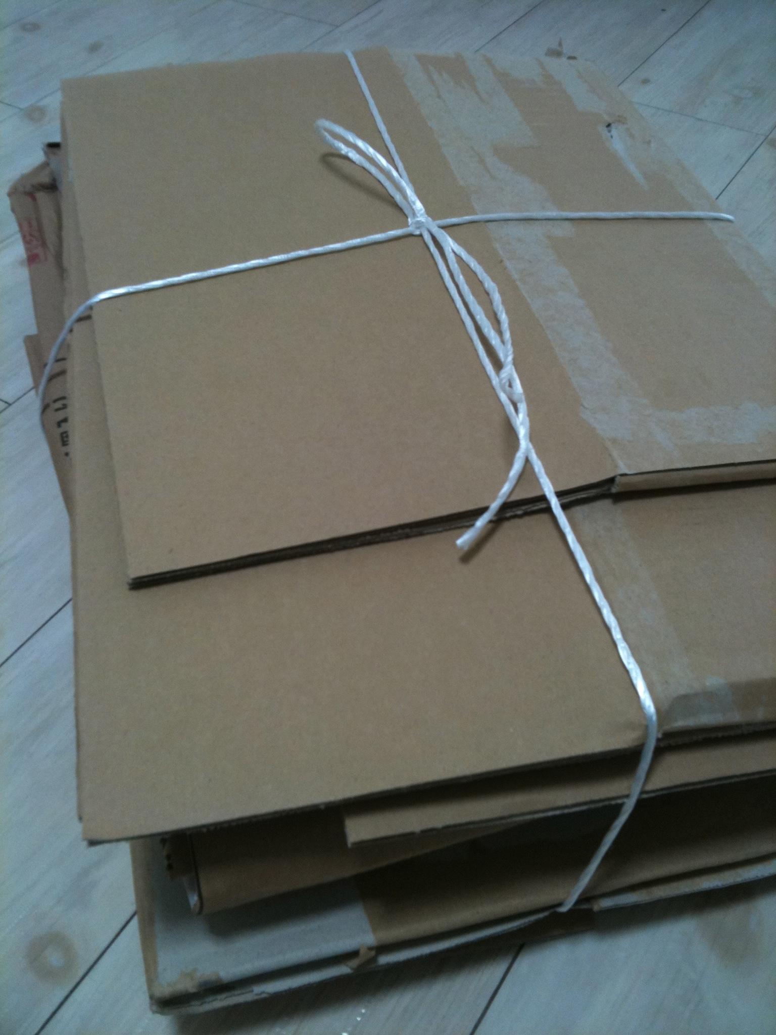 Paquete para reciclar cartón