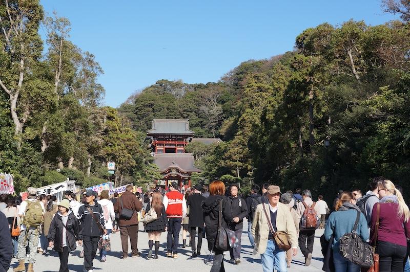 Entrada hacia el gran buda en Kamakura
