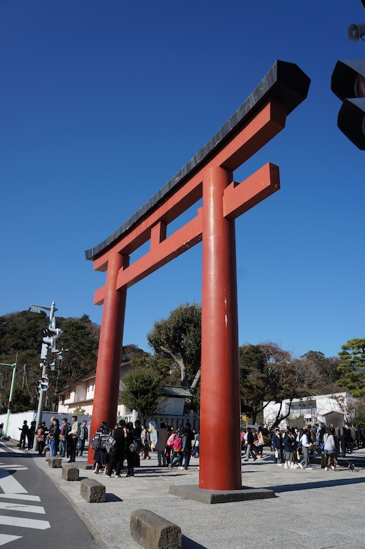 Puerta de madera en kamakura