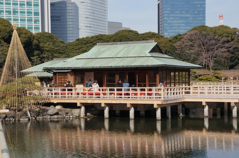 Casa de té de los jardines de Hamarikyu