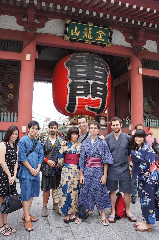 Grupo en Asakusa