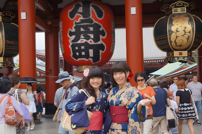 Nao y Kana con Yukata