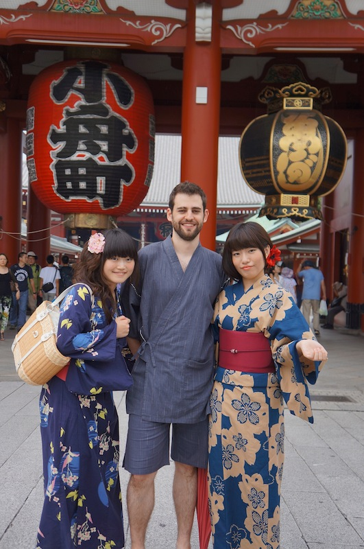 foto con Nao y Kana con Yukata
