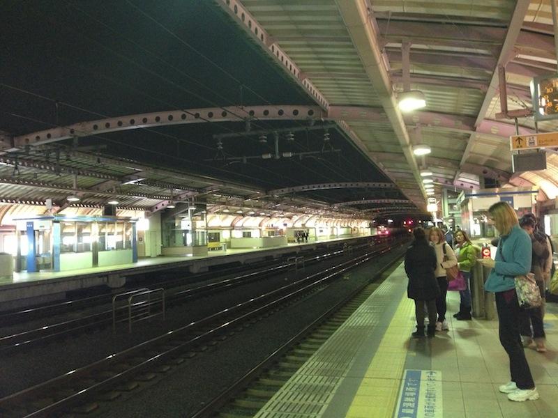 Esperando al tren de vuelta del Noken
