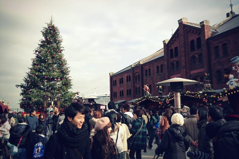 Mercado de navidad en Yokohama