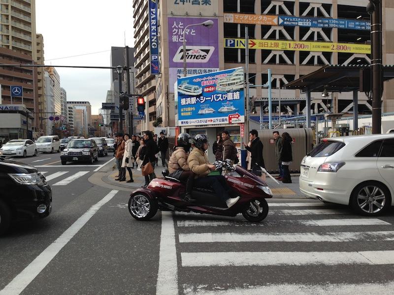 Moto cerca del barrio chino de Yokohama
