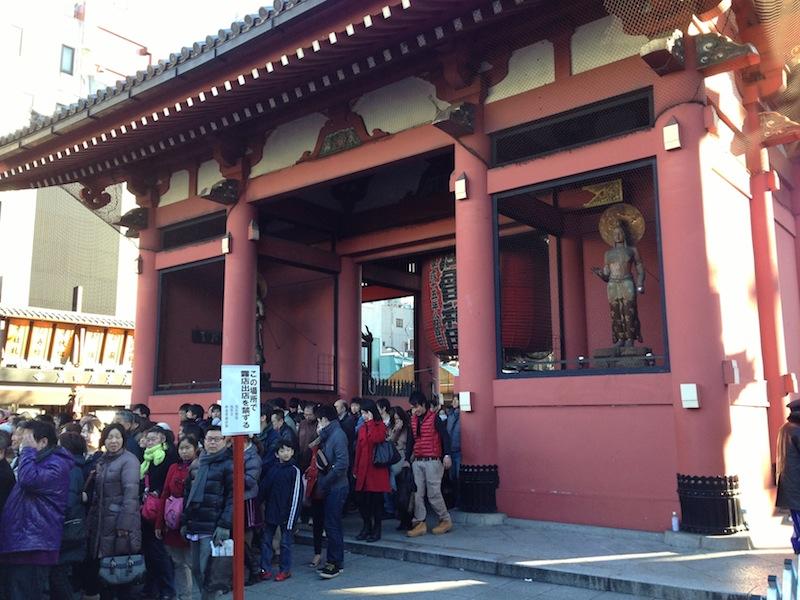 Hatsumoude en Asakusa