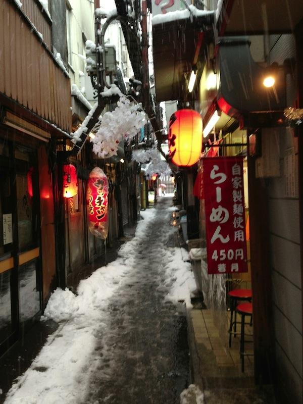 Calle de bares en Shinjuku