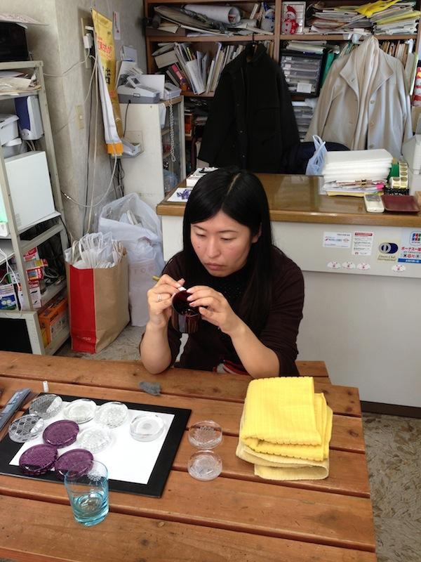 Yukie los vasos del Edo Kiriko