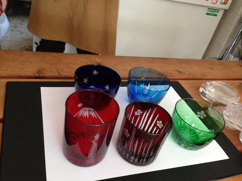 Vasos de Edo Kiriko