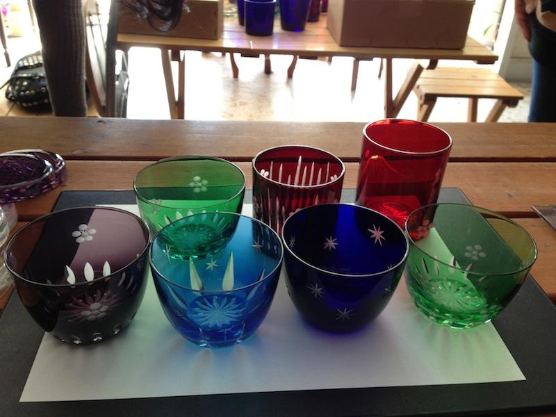 Vasos del Edo Kiriko ya terminados