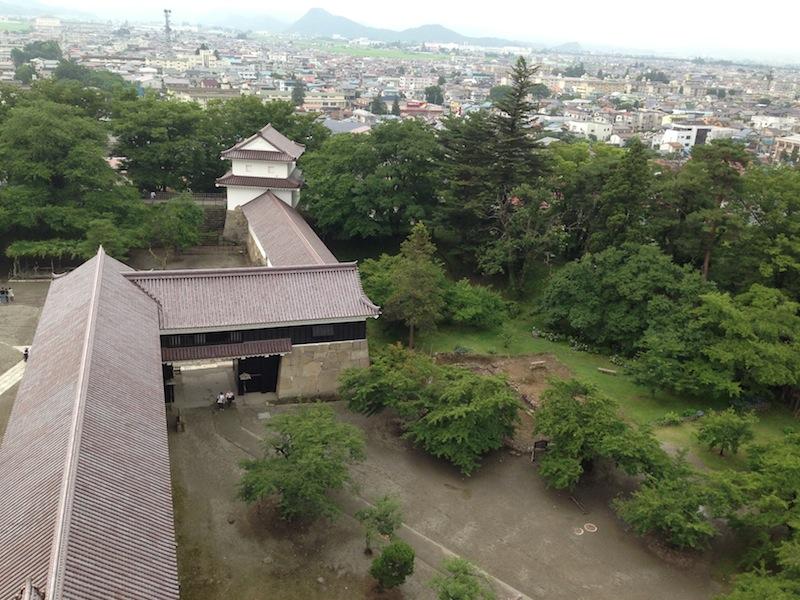 Vista desde el castillo de Aizu