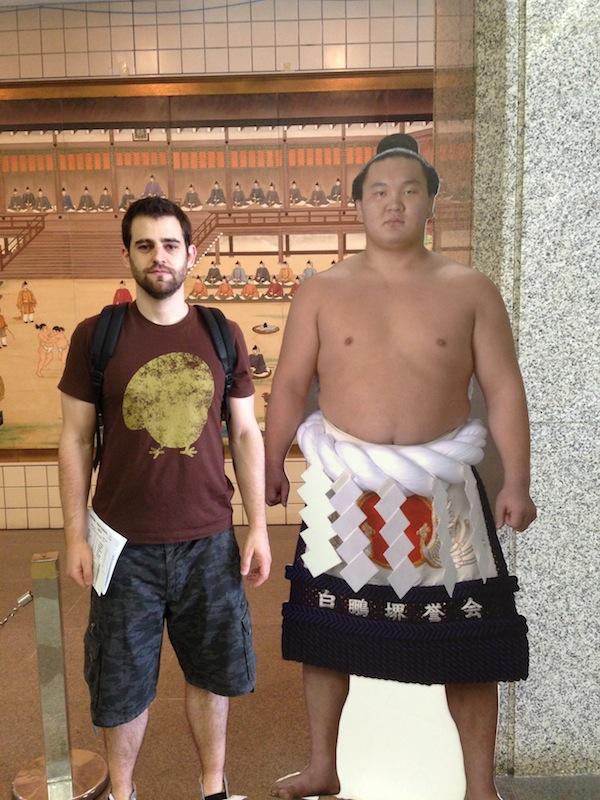 Yo con un luchador de sumo